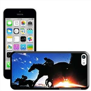 Fancy A Snuggle 'de silueta de carcasa de caballos saltando' carcasa rígida para Apple iPhone 5C