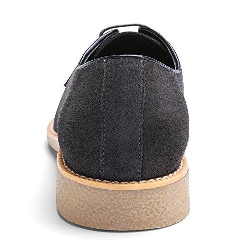 e883104c316455 best Men's Suede Leather Oxford Shoes Casual Lace up Dress Shoes DAMAI