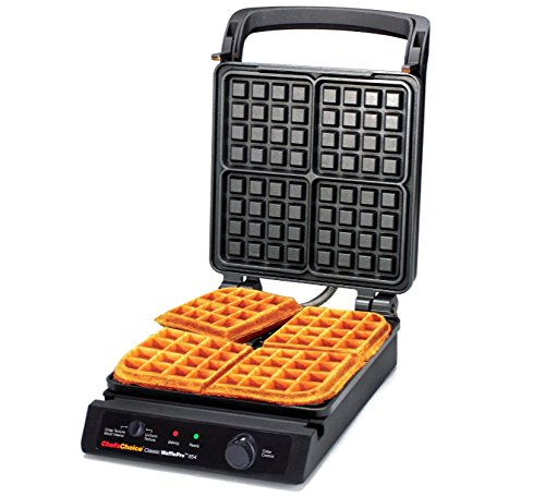Chef'sChoice 854 International Classic WafflePro 4-Square Waffle Maker Model 854 & Zonoz ez-Mini Grab and Lift Silicone Tongs (Bundle) by Chef's Choice (Image #2)