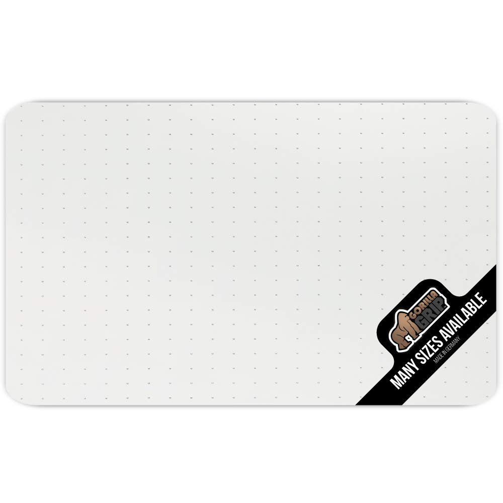 Gorilla Grip Premium Polycarbonate Easy Glide Studded Chair Mat for Carpeted Floor, 47x29, Non-Breakable Transparent Mats for Chairs, Good for Desks, Office and Home, Protects Floors, Clear by Gorilla Grip