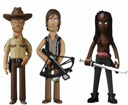 Funko Walking Dead Rick Grimes, and Daryl Dixon and Grimes, Michonne Vinyl Idolz Figures Set of 3 by Walking Dead 45381b