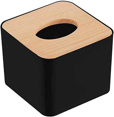 Depory - 1 Caja Porta pañuelos de Madera con Forma de Cubo - Práctico Porta servilletas y toallitas cosméticas - Elegante y Moderno Porta pañuelos de diseño - Azul: Amazon.es: Hogar