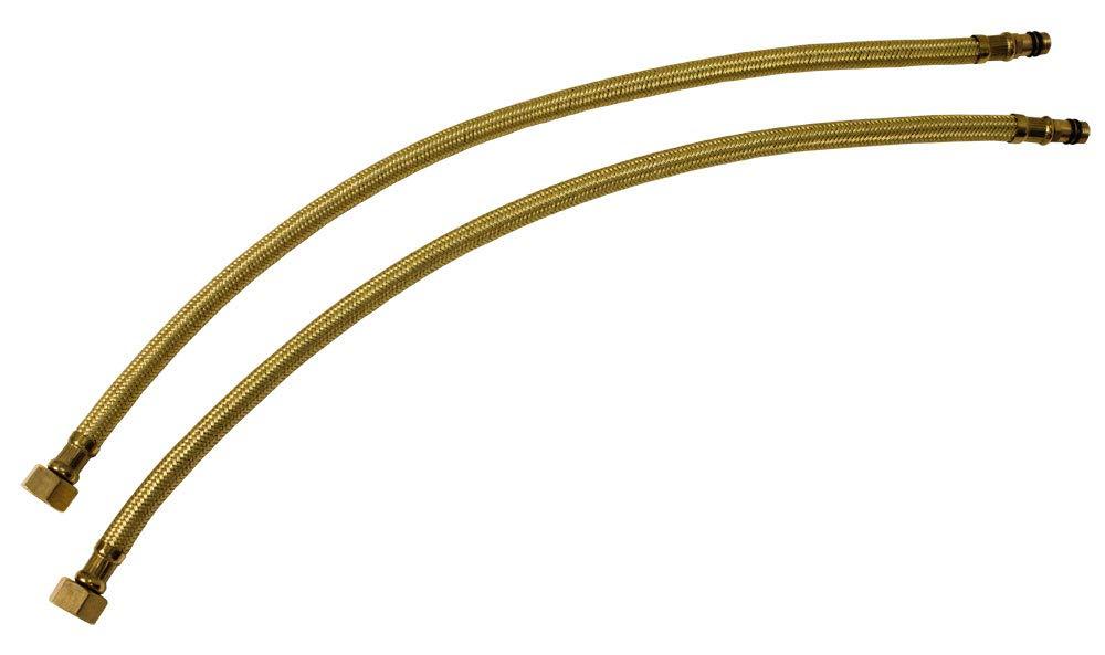 2 Anschlussschläuche Schläuche Panzerschläuche Flexschläuche Gold 50cm Sanlingo