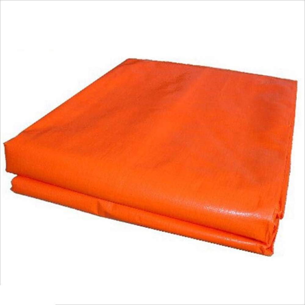 NAN liang PEブルーオレンジ織布タポリン車の防水日焼け止め160g /m²、厚さ0.35mm アウトドア (サイズ さいず : 6*7m) 6*7m  B07K7DSS8T