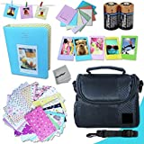 Xtech FujiFilm Instax Mini Accessories Kit f/ Fujifilm Instax Mini 25, Instax Mini 25, Mini25, Mini 25 Black, Mini 25 Pink includes: Assorted Frames + Fitted Case + Album + 2 CR-2 Batteries + MORE