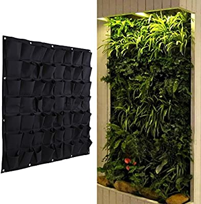 Amazon.com: Easydeal 64/56 Pocket Felt Vertical Hanging Wall ... on plants for green roof, plants for rain gardens, plants for container gardens, plants for planters,