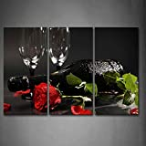 grape leaf poster - First Wall Art - Grape Wine With Red Rose Green Leaf Wall Art Painting Pictures Print On Canvas Food The Picture For Home Modern Decoration