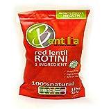 Bentilia Lentil Pasta, Red Lentil Rotini - 1 lb, Bag; 100% Natural, Low Glycemic Index, High Protein & Fiber, Non-GMO, Gluten Free Pasta