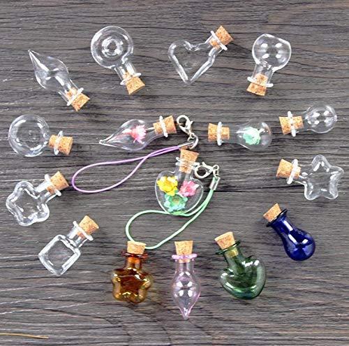 Party Favors - Mini Glass Bottles Cork Wood Hanging Small Jars Wishing Gifts Drift Sn2099 - Cream Video Glow Gift Stickers Ninja Peppa Assortment Hats Donut -