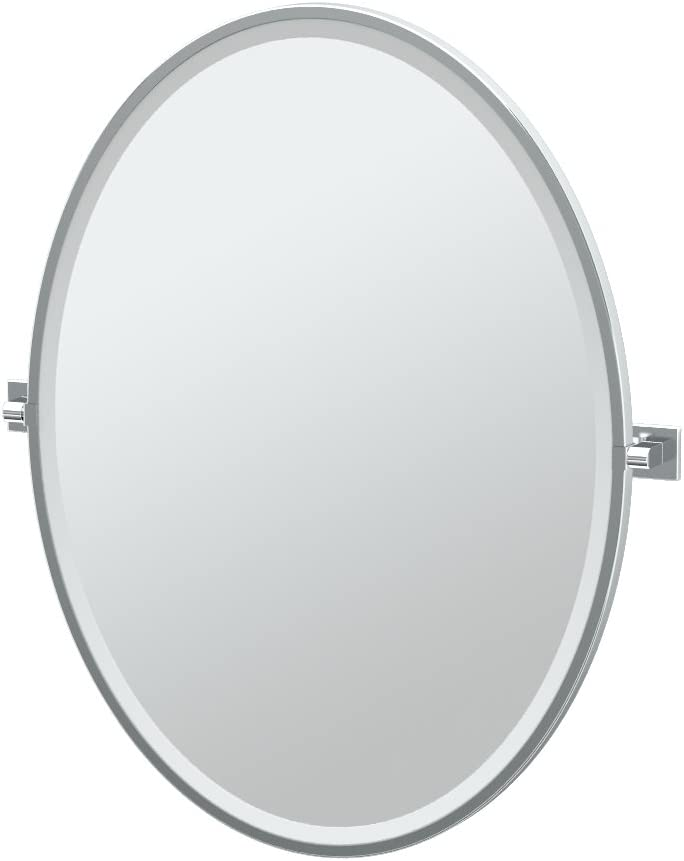 33H Gatco 4059XFLG Elevate Framed Oval Mirror Matte Black