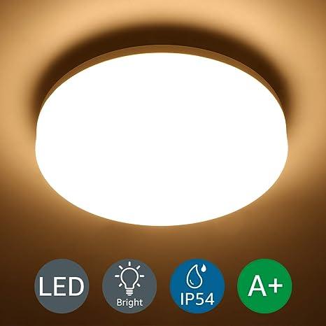 Lighting EVER 15W Deckenlampe, IP54 Wasserfest Badlampe ...