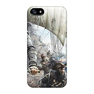 Hot Snap-on Assassins Creed 4 Black Flag Game Hard Cover Case/ Protective Case For Iphone 5/5s