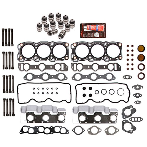 Domestic Gaskets HSHBLF5013 Lifter Replacement Kit fits 87-00 Dodge Hyundai Mitsubishi 3.0 SOHC 6G72 Head Gasket Set, Head Bolts, Lifters ()