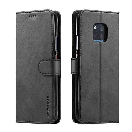 ❤️MChoice❤️Magnetic Flip Leather Wallet Cards Case Cover for Huawei Mate 20 6.53 inch (Black)