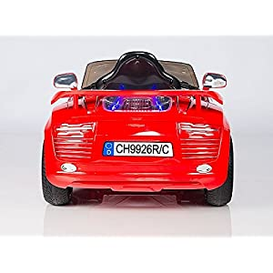 Audi-R8-Style-Kids-12V-Battery-Powered-Wheels-Ride-On-Car-MP3-RC-Remote-Red