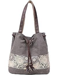 Printing Canvas Shoulder Bag Retro Casual Handbags Messenger Bags