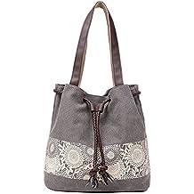 Hiigoo Printing Canvas Shoulder Bag Retro Casual Handbags Messenger Bags