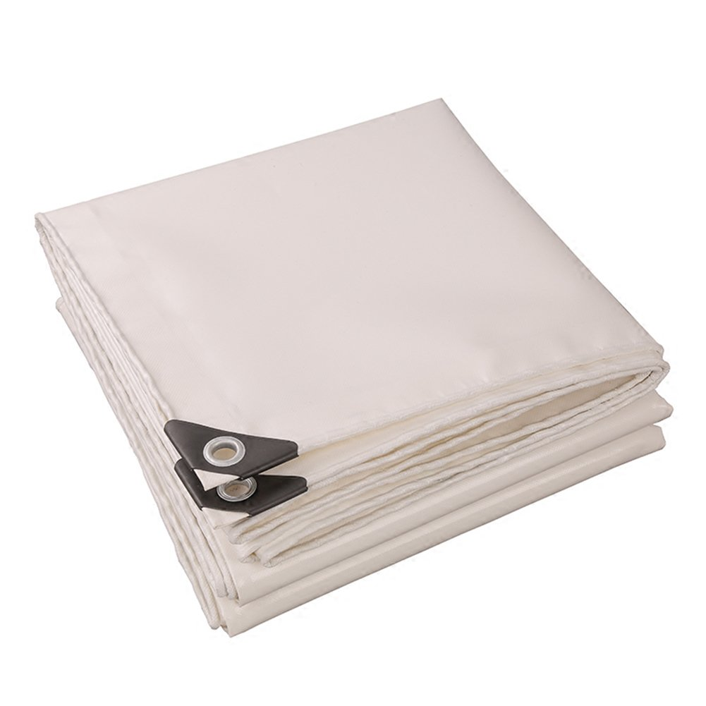 CHAOXIANG 折りたたみ可能 厚い 両面 防水 日焼け止め 耐寒性 耐摩耗性 耐食性 防塵の 軽量 PVC 白、 520g/m 2、 厚さ 0.45mm、 19サイズ (色 : 白, サイズ さいず : 5×7m) B07DBPRPBB  白 5×7m