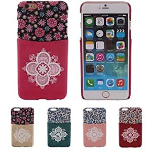 YULIN Special Design TPU Patch Big Flower Pattern PC Hard Case With Card Slot for iPhone 6(Assorted Color) , Green