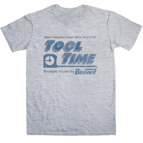 Mens Inspired By Home Improvement - Tool Time - Sport Grey - - Time Improvement Tool Home