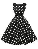 Polka Dots Vintage Ball Dresses Sleeveless A-Line Size M F-8