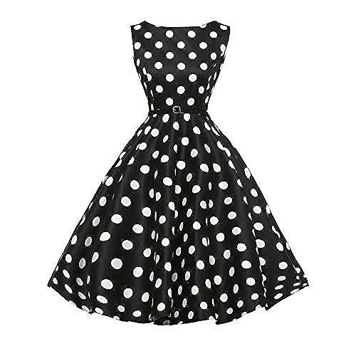 GRACE KARIN Vintage Prom Dresses 50s Hepburn Polka Dots Size S F-8