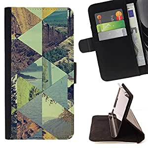 Momo Phone Case / Flip Funda de Cuero Case Cover - Patrón de verano a cuadros Cielo - Sony Xperia Z3 Compact
