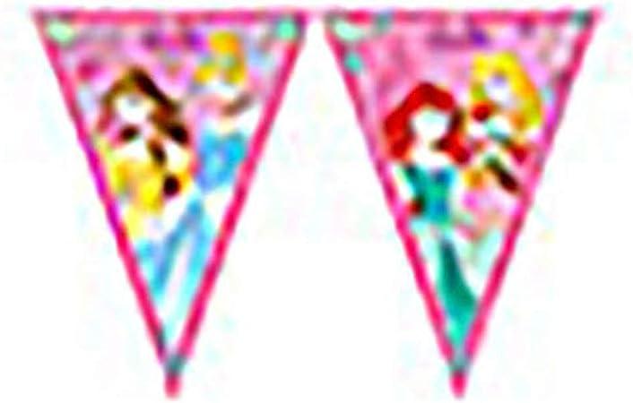 Procos 85013 - Guirnalda de banderines de princesas Disney ...