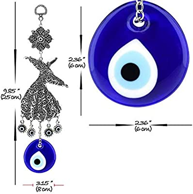 Sufi Whirling ojo pared Decor- turco mal Eye- protección de la ...