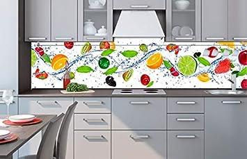 Küchenrückwand Folie selbstklebend OBST 260 x 60 cm | Klebefolie ...
