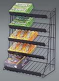 5 Tier Candy Rack Waterfall Merchandiser in Black Finish