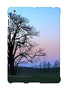 Christmas Day's Gift- New Arrival Cover Case With Nice Design For Ipad 2/3/4- Lonely Tree On The Field