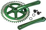 LASCO Track Fixie Crankset Crank 165mm 46 Teeth Green