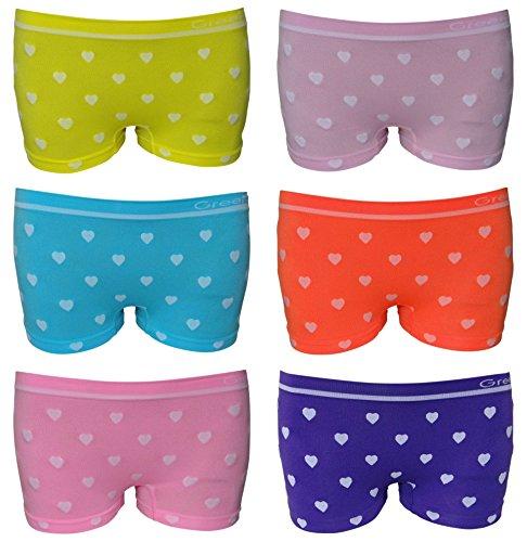 6er Pack sportliche Mädchen Pantys Hipster Shorts Greenice Gr. 98 - 164 (116 - 128)