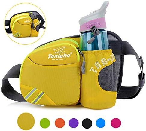 [해외]허리 가방 허리 파우치 야외 스포츠 다기능 워터 병 홀더 부착 방수 대용량 달리기 걷기 등산 자전거 캠핑 승마 낚시 총격 사건 스포츠 용품 남녀 공통 / Waist Bag Waist Pouch Outdoor Sports Multifunction With Water Bottle Holder Waterproof ...