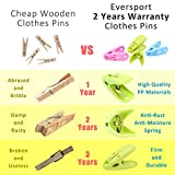 EverSport Sturdy Clothespin Clothes Clips Pegs
