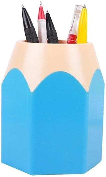 STRIR Portalápices, Bote para lápices diseño del lápiz (Azul): Amazon.es: Oficina y papelería