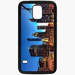Unique Design Fashion Protective Back Cover For Samsung Galaxy S5 Case Chicago Llinois USA Chicago Illinois USA Black