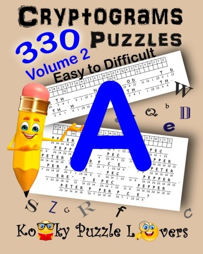 Cryptograms Volume 2 330 Puzzles Kooky Puzzle Lovers