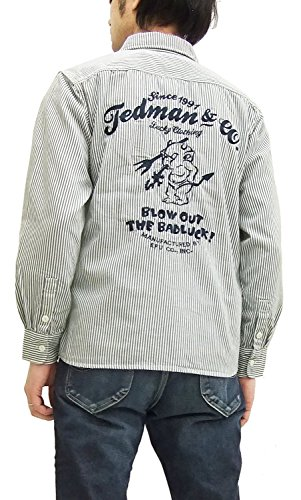 TEDMAN Men's Long Sleeve Hickory Stripe Work Shirt TSHB-1100HC (Medium) Hickory ()