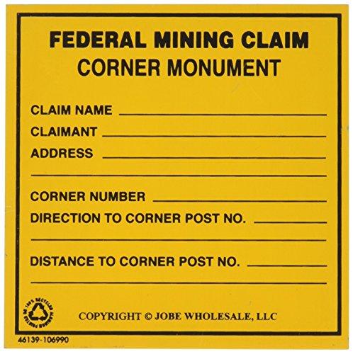 Federal Mining Claim Corner Monument Sign Gold Prospecting Equipment