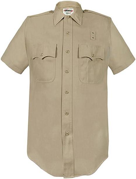 Elbeco Camisa de Manga Corta para Hombre, Color marrón Claro, de la Costa Oeste del Condado de Los Ángeles, Clase A: Amazon.es: Deportes y aire libre