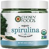 Organic Spirulina 8 oz. Purest Premium Green Superfood Powder, Vegan and USDA Certified for Quality, Safety, Maxiumum Nutrient Density by Chosen Foods