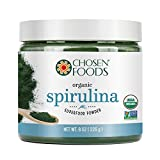 Organic Spirulina 8 oz. Purest Premium Green Superfood Powder, Vegan and USDA Certified for Quality, Safety, Maxiumum Nutrient Density by Chosen Foods
