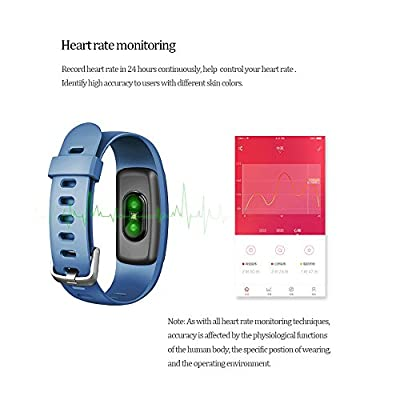 ANCHEER HR Fitness Tracker, Activity Tracker, Heart Rate Monitor Wireless Bluetooth Smart Wristband Bracelet, Waterproof Fitness Watch for Android & IOS