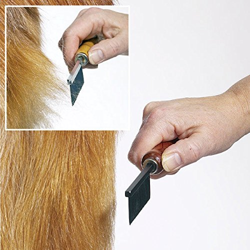 Professional Anti Static Dog Grooming Combs Xylan Coated Wear Resistant Tools (Face & Finishing)