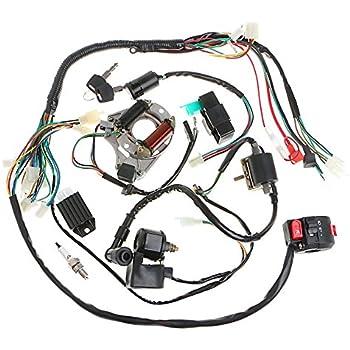 wiring harness for 4 wheeler amazon.com: chinese atv utv quad 4 wheeler electrics ...
