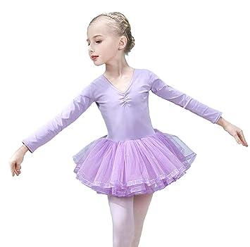 HXQXPY Niñas Traje Vestido Tutú de Ballet Baile Falda de ...