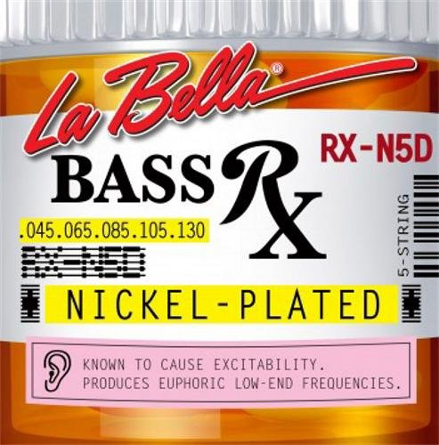 LaBella RX-N5D 5-String Bass Rx Nickel-Plated Strings, Custom