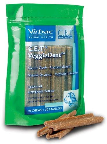 C.E.T. VeggieDent Chews, Regular, 30 Chews, My Pet Supplies